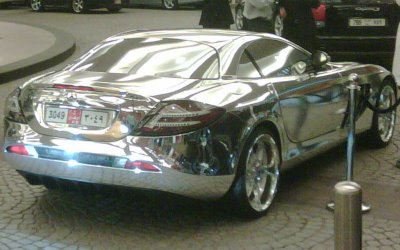 Luxury Cars: Cromed McLaren Mercedes SLR in Dubai