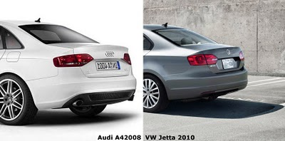 Differences: Audi A4 vs. Volkswagen Jetta