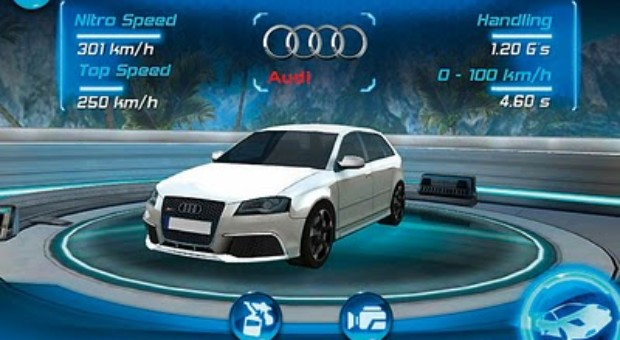 iPhone application: The new Audi RS 3 (Test drive)