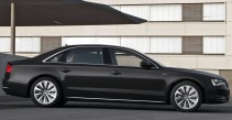 A closer look at the lovely car: Audi A8