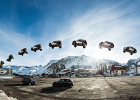 "Guerlain Chicherit attempted to beat the world record for longest ramp car jump: ""Longest Jump Story """