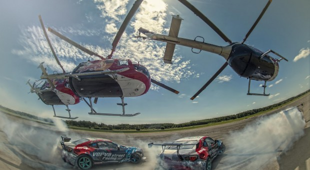 Getting the drift on Felix's helicopter stunt ride