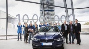 Delivery of the ten millionth BMW 3 Series Sedan at BMW Welt in Munich. The landmark model goes to a driving school in Eichstätt