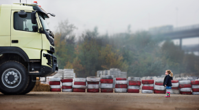 New Volvo Trucks video: four-year-old remote controls truck into 360 spin