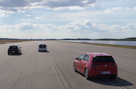 Volkswagen GTI challenges the 0-100 km/h record