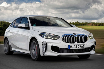 The new BMW 128ti compact sports car completes its final test laps at the Nürburgring