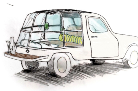 To celebrate the 60th anniversary of the Renault 4, the brand decided to team up with designer Mathieu Lehanneur to reinvent the 4L vehicle